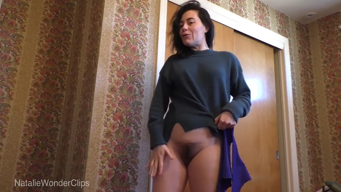 Natalie Wonder – Mommy's hairy vagina gives stepson an accidental erection