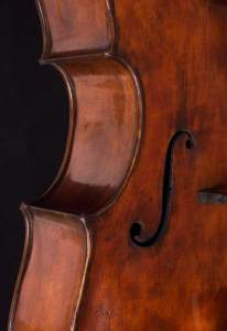 Venetian baroque cello soundhole