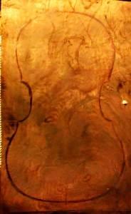tenor viola da gamba mahogony back