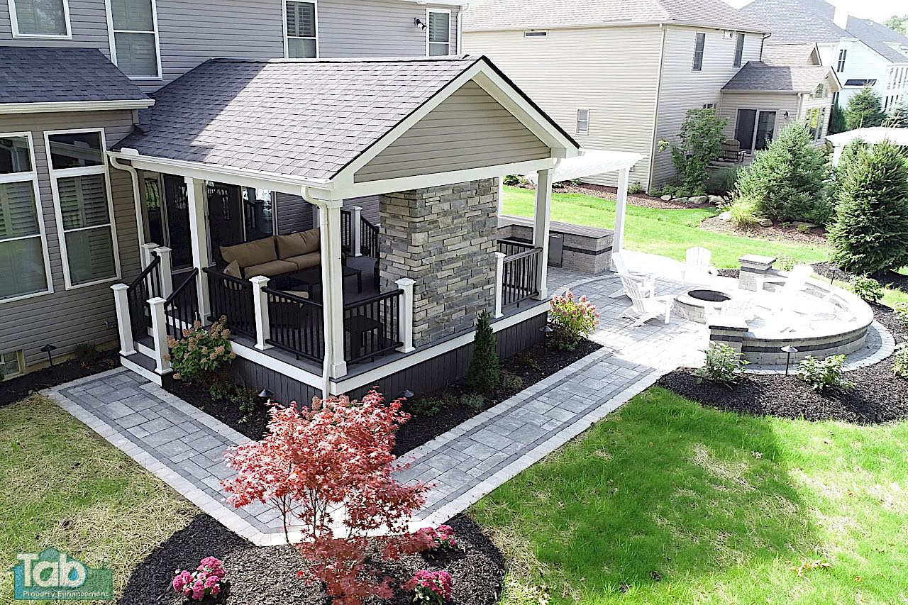 Paver Patios & Outdoor Living Spaces | Home Improvement Ohio on Outdoor Pavers Patio id=96934