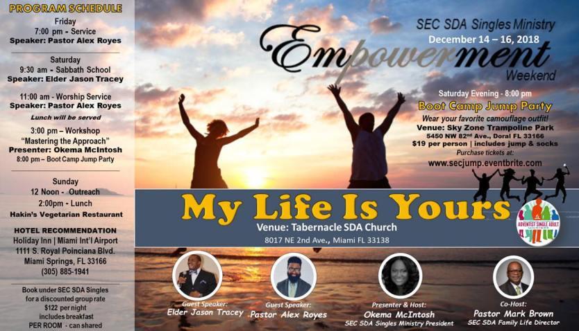 SEC SDA Singles Ministry Empowerment Weekend (Live Stream