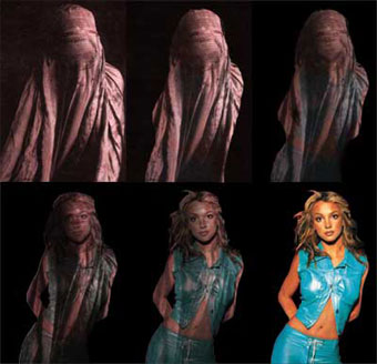 """Burqa to Britney,"" artwork by Emily J. Brondsema"