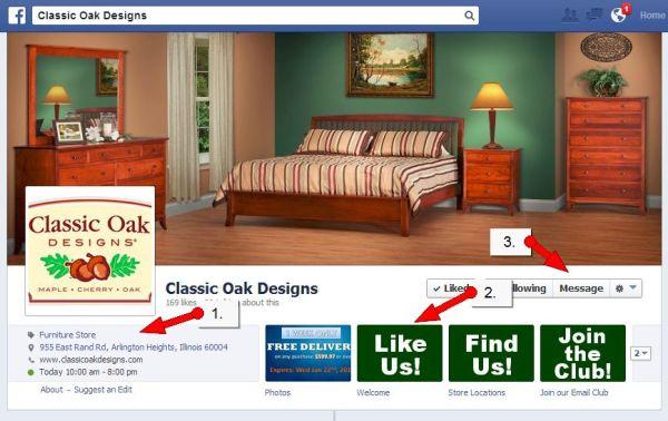 Classic Oak Designs Facebook Page