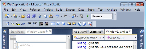 Vertical tab groups support for Visual Studio 2010 Beta 1