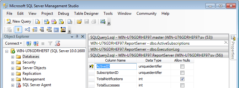 Tabs Studio tabs in Microsoft SQL Server Management Studio