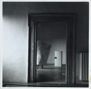 From Angel Series, Roma, September 1977 1977 Francesca Woodman 1958-1981 ARTIST ROOMS Acquired jointly with the National Galleries of Scotland through The d'Offay Donation with assistance from the National Heritage Memorial Fund and the Art Fund 2008 http://www.tate.org.uk/art/work/AR00354
