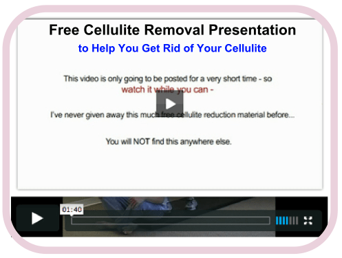 free cellulite presentation video for women to get rid of cellulite