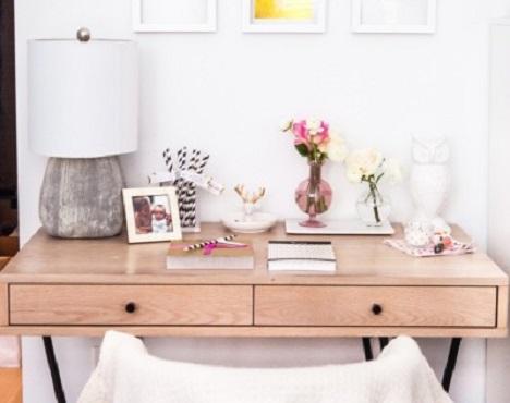 inspiration d co un coin bureau dans mon salon. Black Bedroom Furniture Sets. Home Design Ideas