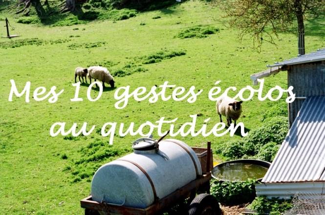 Mes 10 gestes écologiques au quotidien