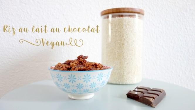 Recette de riz au lait au chocolat Vegan