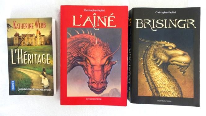 Mes lectures 5 - L'Héritage de Katherine Webb et les tomes 2 et 3 d'Eragon par Christopher Paolini C
