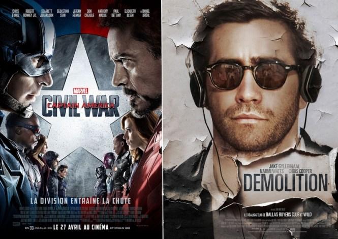 Chronique Cinéma - Captain America Civil War + Demolition _ Blog Tache de Rousseur