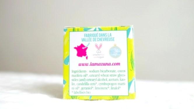 Déodorant solide Lamazuna - Tache de Rousseur, blog beauté naturelle et lifestyle