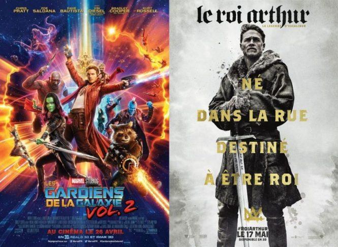 Critique cinema - Les gardiens de la galaxy vol.2 + Le Roi Arthur la Légende d'Excalibur
