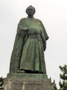This is a statue placed near the beach in Kochi of Sakamoto Ryoma, a samurai from the time of the Meiji Restoration. There's been a revival of interest in him in Japan because of a drama series based on his (short) life. Sucks to take a sword to the head on your 33rd birthday.