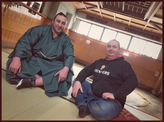 John Gunning with Tochinoshin