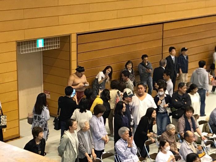 Abi with fans. Jungyo Koshigaya 27 April 2018