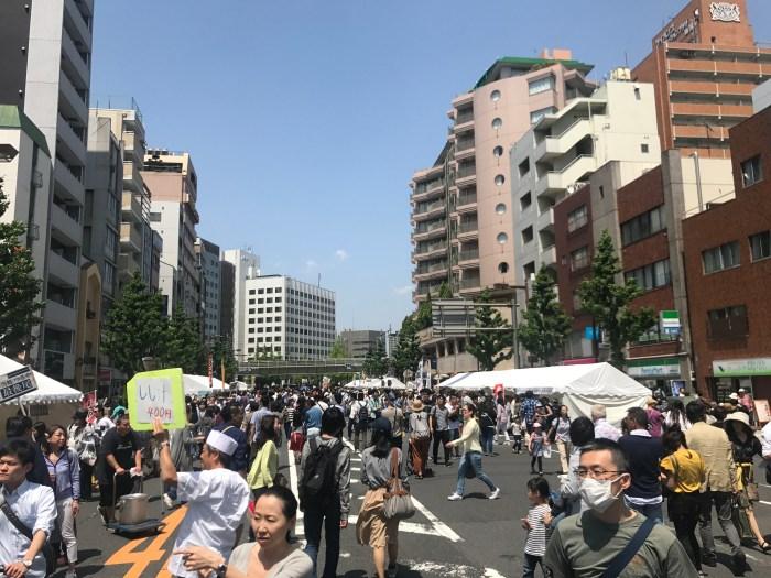 Golden Week street fair Ryogoku