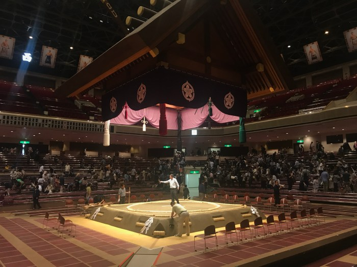 Natsu basho consecrated dohyo