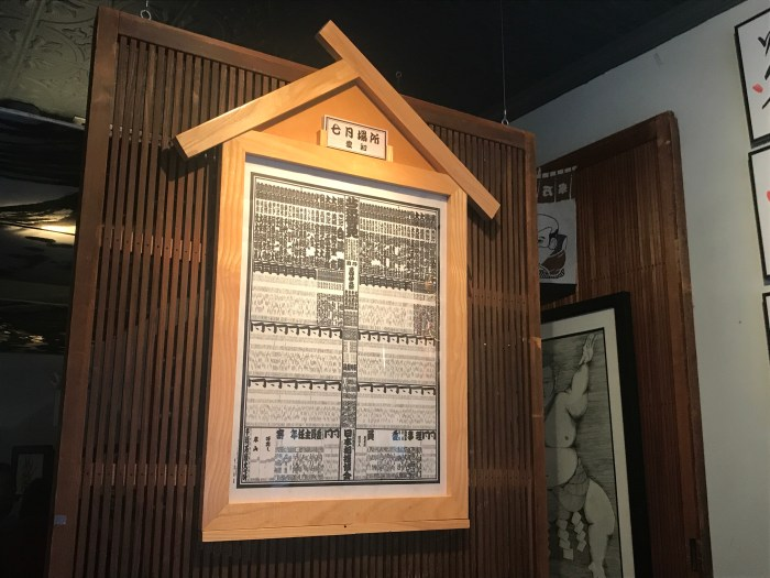 Banzuke at Azasu New York