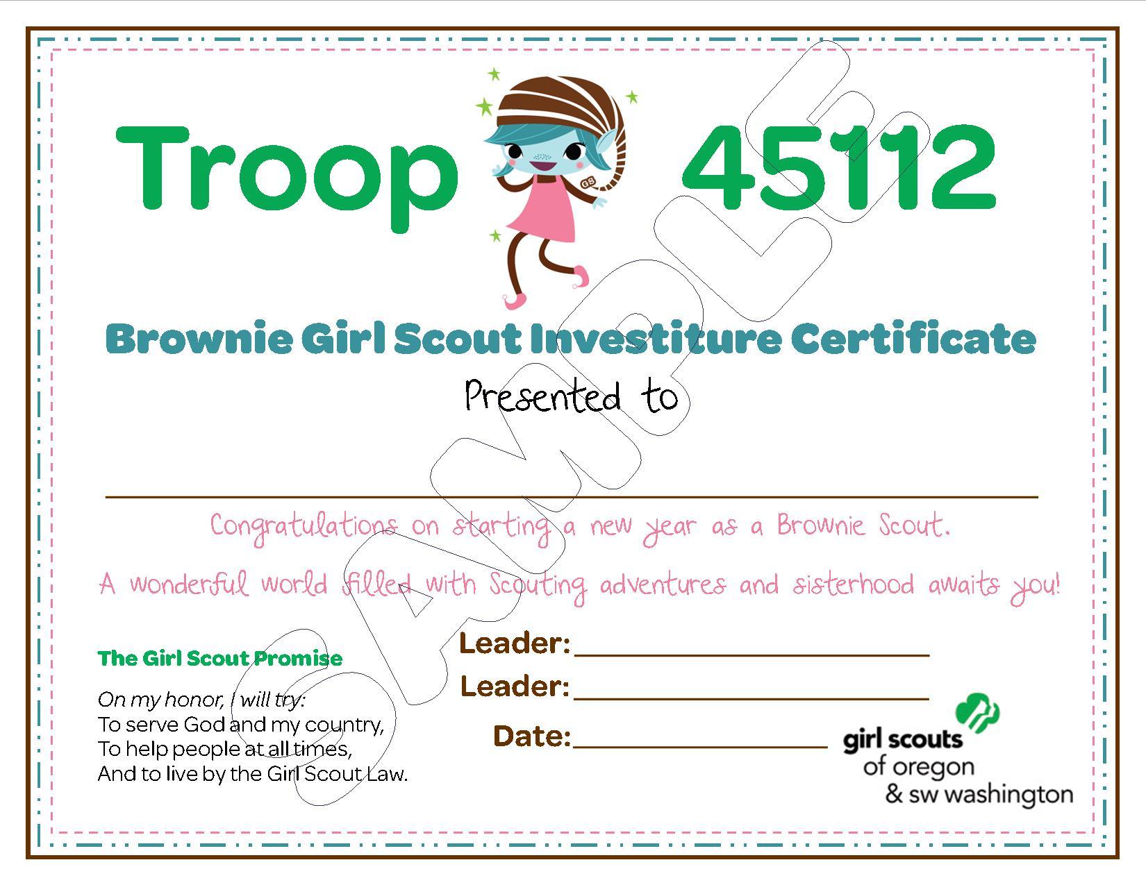 Brownie Troop Investiture