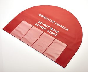 Steering wheel safety cover