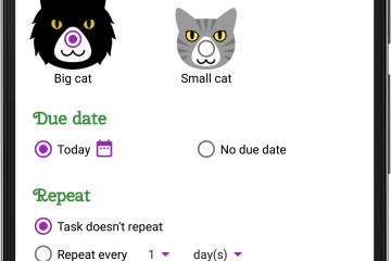 Kitty Todo's Add New Task screen