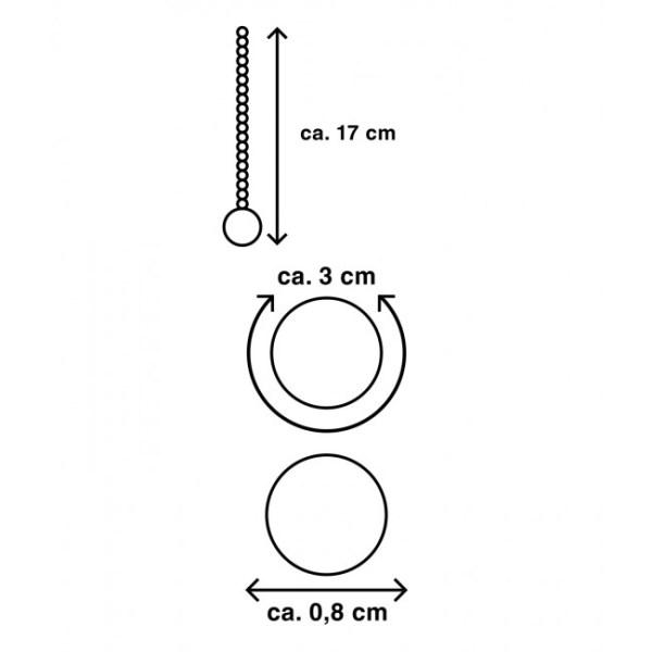 Mr Cock Extreme Line Deep Pearl flexible Penisplug Silver 45mm