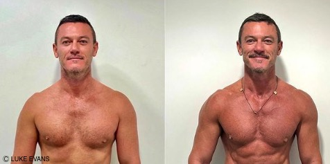 Luke Evans showcases what 8 months of training and we're shook