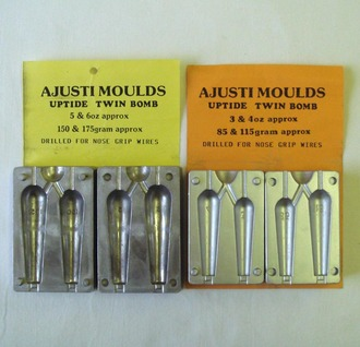 3 to 6 ounce lead moulds.
