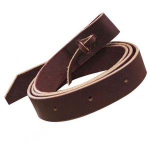 brn leather tie strap