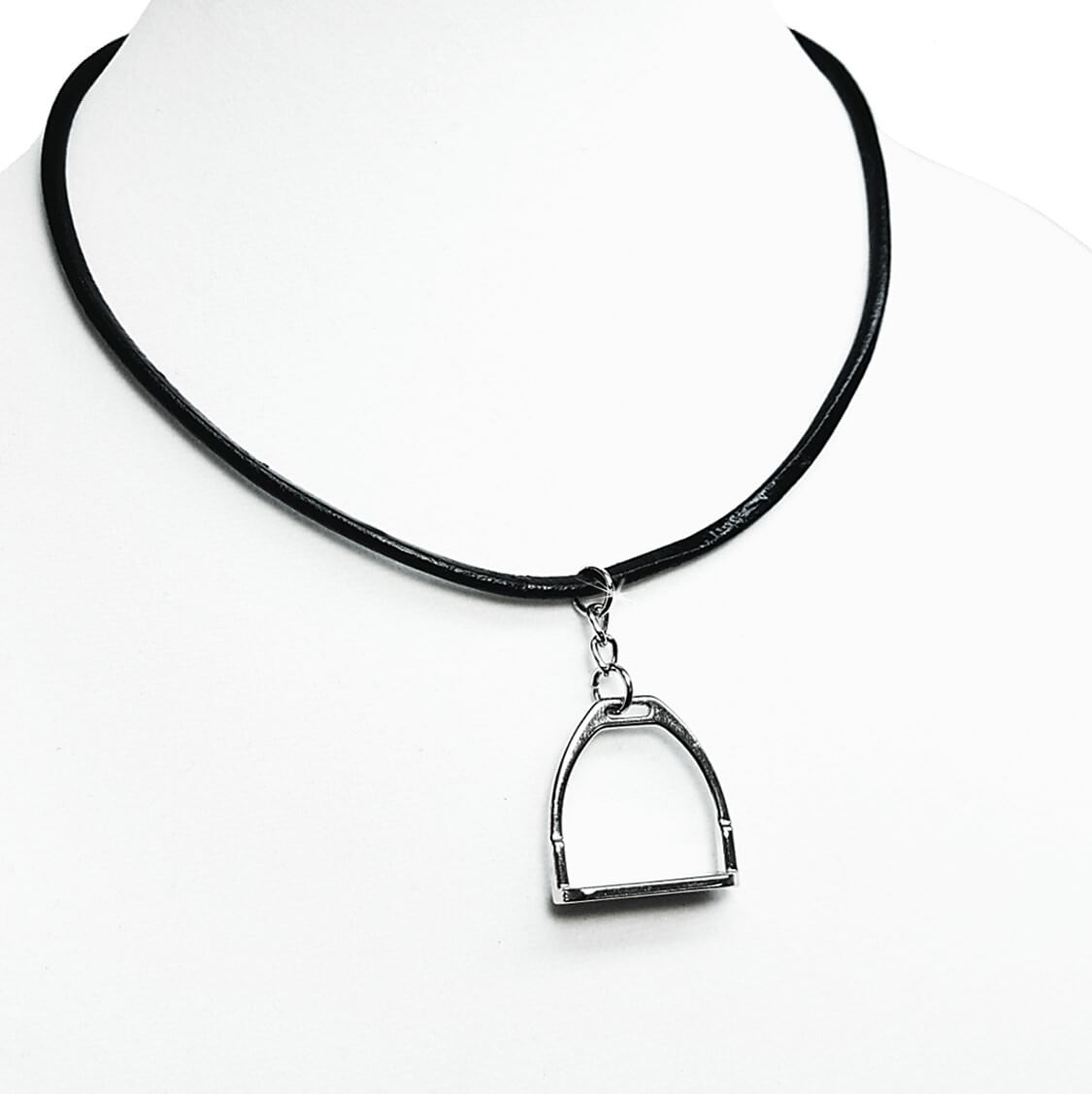 rope stainless womens mens of us leather necklace sf chain steel clasp black picture p
