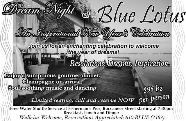 Blue Lotus New Years party ad for 2008/2009
