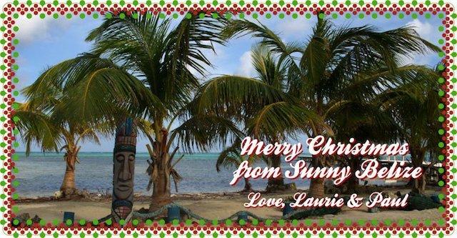 Tree-less Christmas card