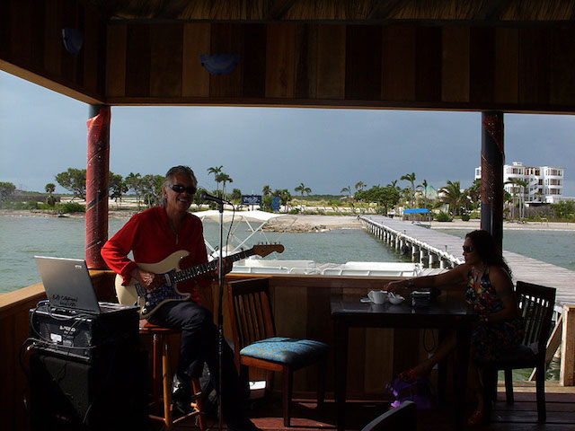 Musician performing at Blue Lotus
