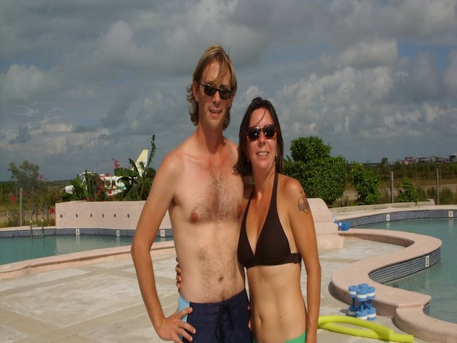 Laurie and Paul at the pool