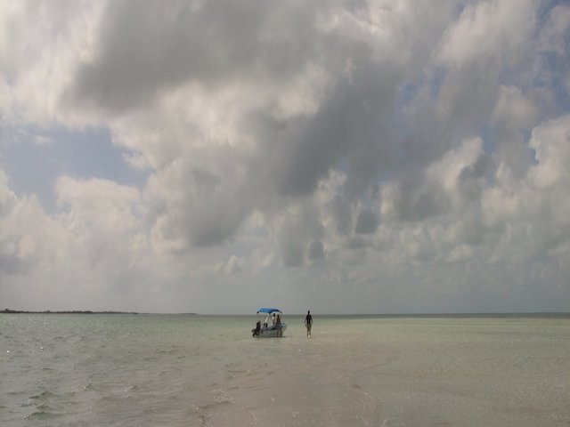 Beautiful sky and sandbar