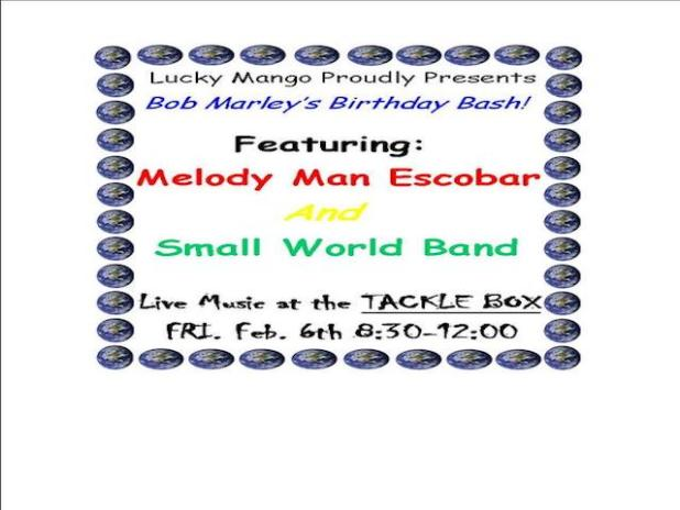 Bob Marley's Birthday Bash ad