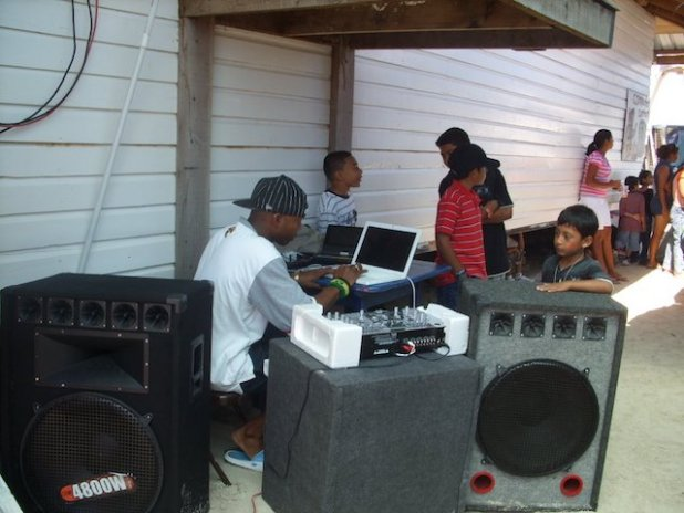 DJ at Holy Cross school