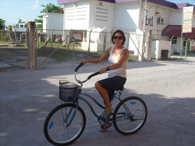 Tacogirl on her new bike