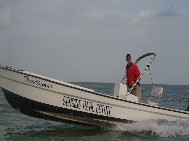 Seaside real estate boat