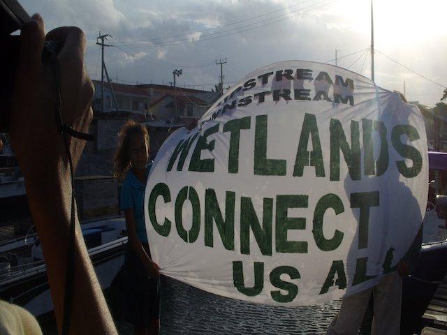 Wetlands sign