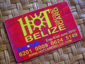 Hot Belize discount card