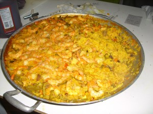 Meat and Shrimp Paella