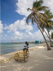 boy on bicycle