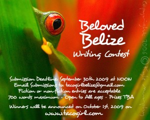 Beloved Belize Writing Contest