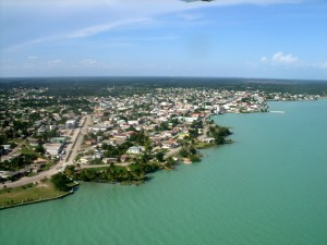 Flying over Corozal