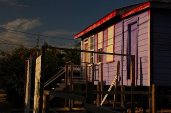 Candy-coloured Placencia - copyright by Kate Joynes-Burgess