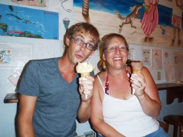 DandE's ice cream Ambergris Caye Belize