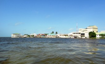 Belize City water taxi view